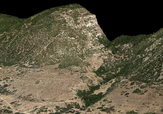 Photogrammetric digital surface model (DSM) of a town at the base of mountains in Utah. 15cm GSD. I was very pleased with how gorgeous this ended up being! <a href='http://www.kasurveys.com' target='_blank'>Keystone Aerial Surveys, Inc.</a>